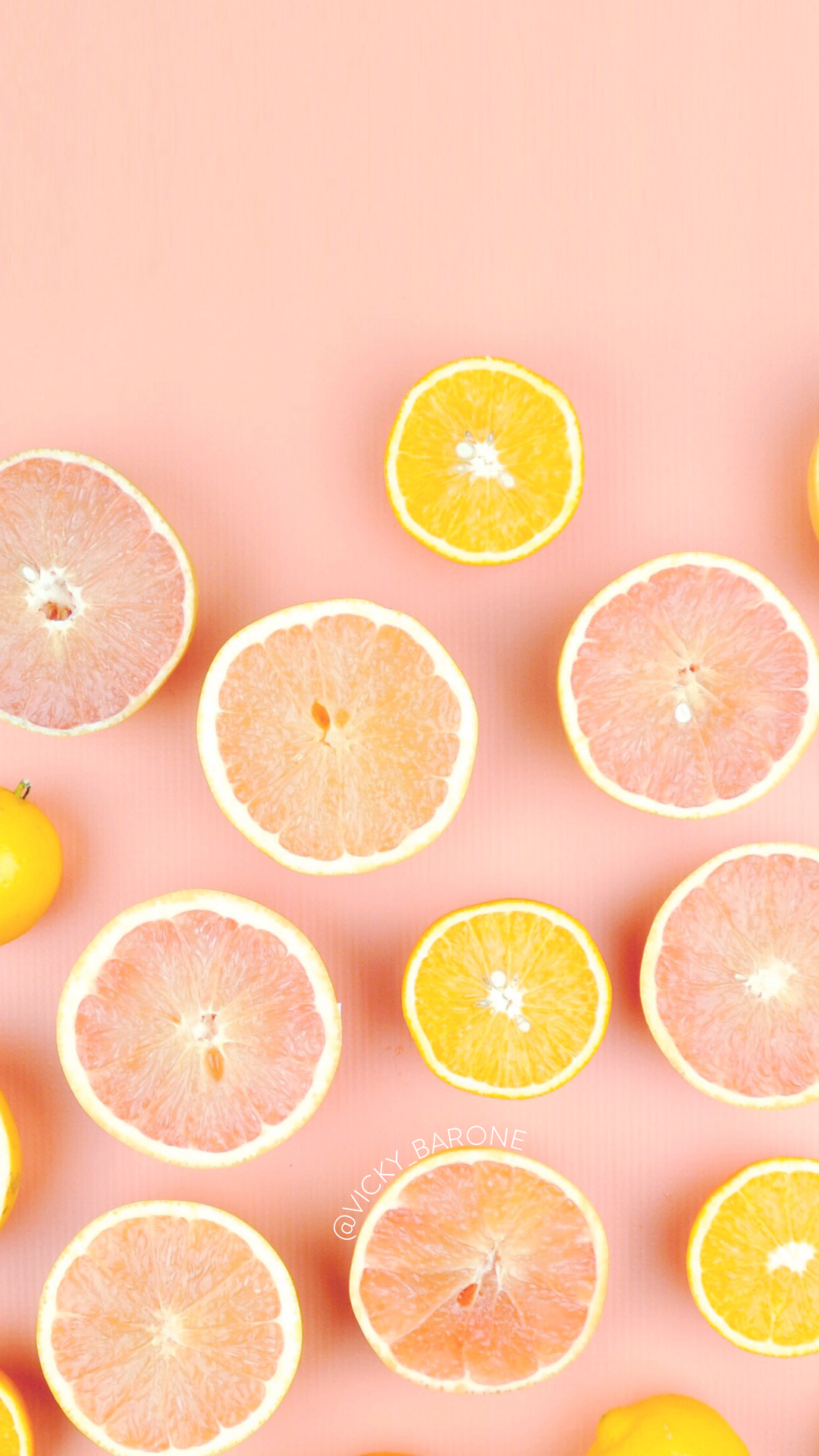 Freebie Friday: citrus Wallpaper - Vicky Barone