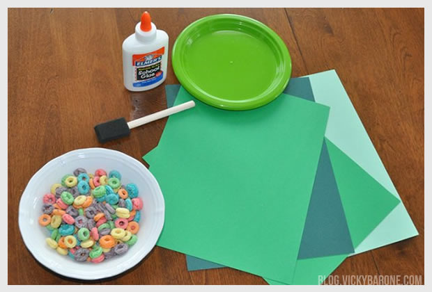 Froot Loop Rainbow for St. Patrick's Day | Vicky Barone