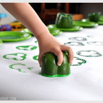 St. Patrick's Day Bell Pepper Shamrock Stamp