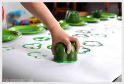 Bell Pepper Shamrock Stamp for St. Patrick's Day | Vicky Barone