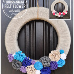 Interchangeable Felt Flower Wreath