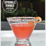 Sprinkle Rimmed Glasses DIY