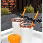 Halloween Sprinkle Rimmed Glasses
