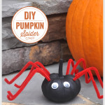 DIY Spider Pumpkin