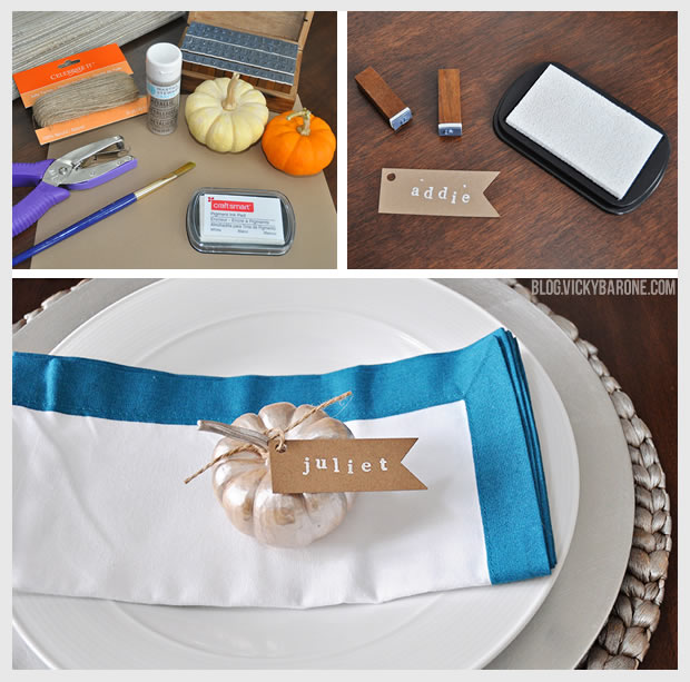 DIY Thanksgiving Pumpkin Place Cards