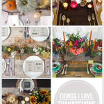 Things I Love: Thanksgiving Table Settings