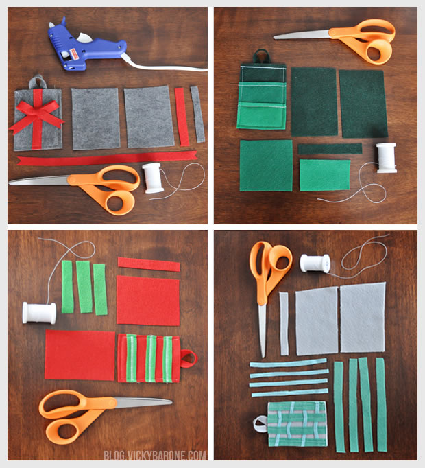 diy felt gift card holders  vicky barone
