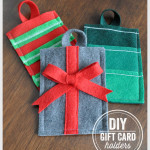 DIY Felt Gift Card Holders