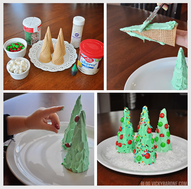 ice cream cone christmas trees