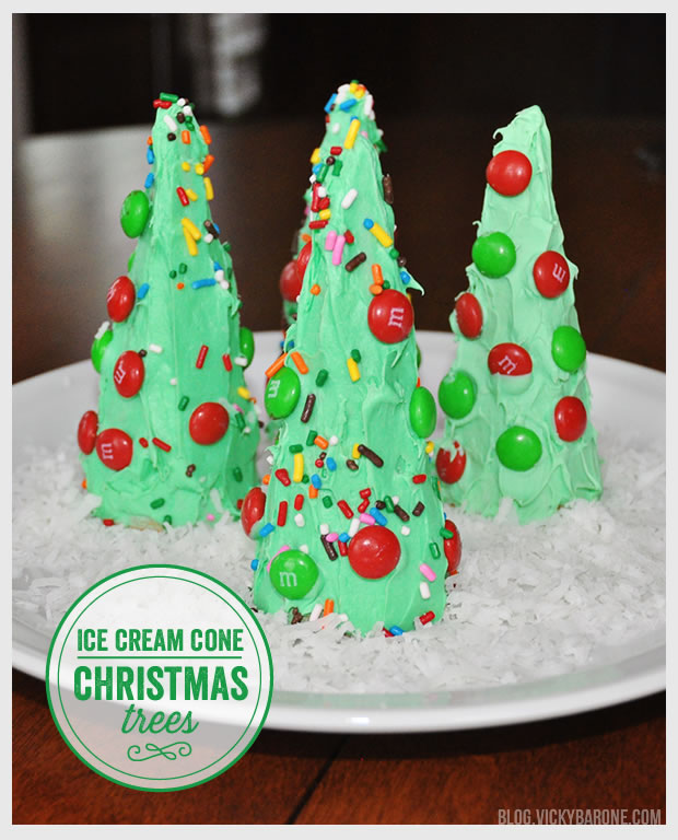 ice cream cone christmas trees vicky barone
