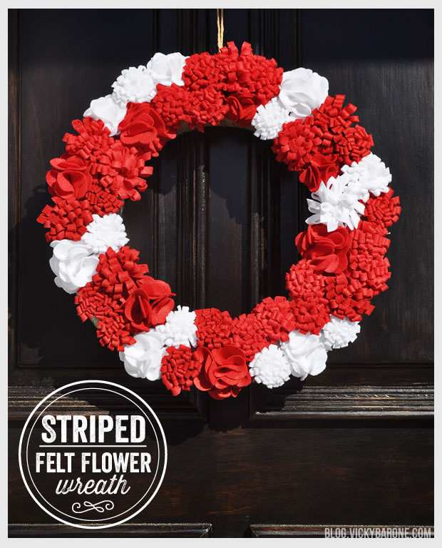 Felt Flower Christmas Wreath DIY