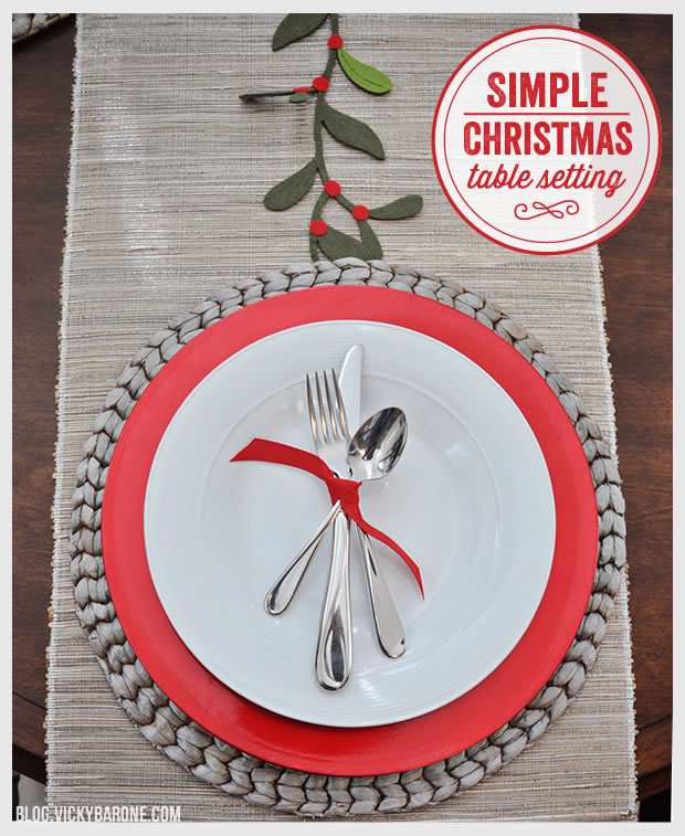 Simple Christmas Table Setting Vicky Barone