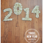 DIY Tinsel New Year Numbers