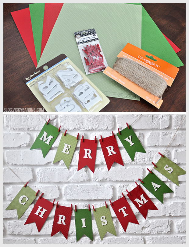 Diy Merry Christmas Garland Vicky Barone