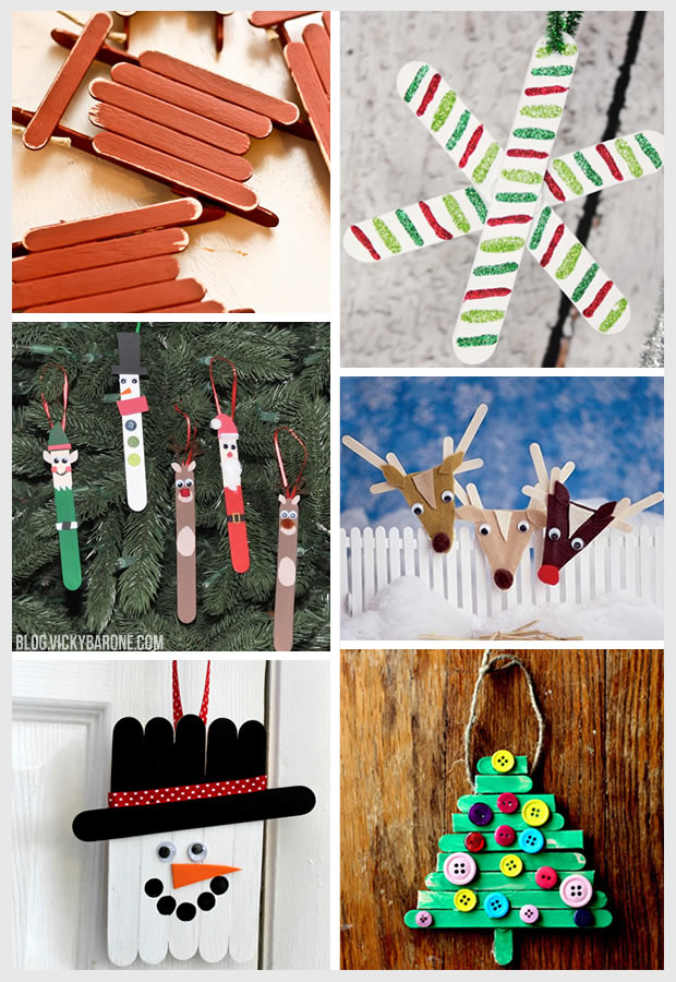 Things i love popsicle stick ornaments vicky barone for Christmas projects with popsicle sticks