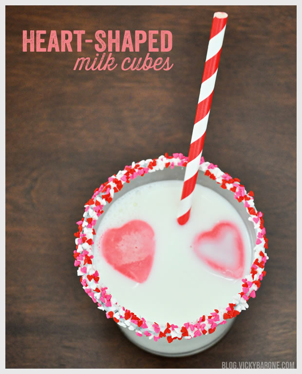 Heart-Shaped Milk Cubes for Valentine's Day | Vicky Barone