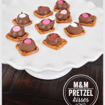 M&M Pretzel Kisses for Valentine's Day