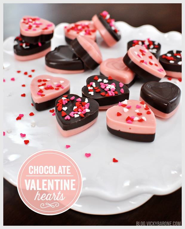 DIY Chocolate Valentine Hearts | Vicky Barone