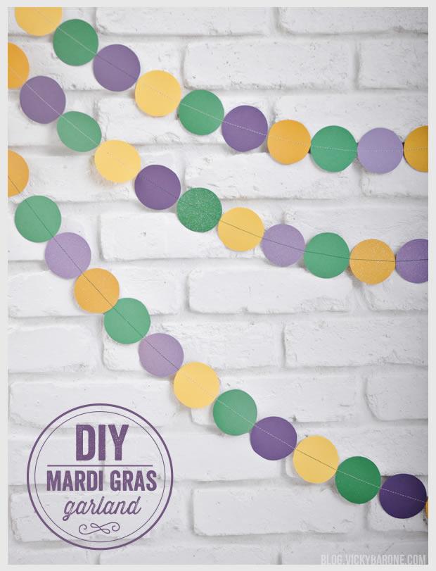 DIY Mardi Gras Garland | Vicky Barone