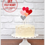 DIY Felt Heart Cake Toppers