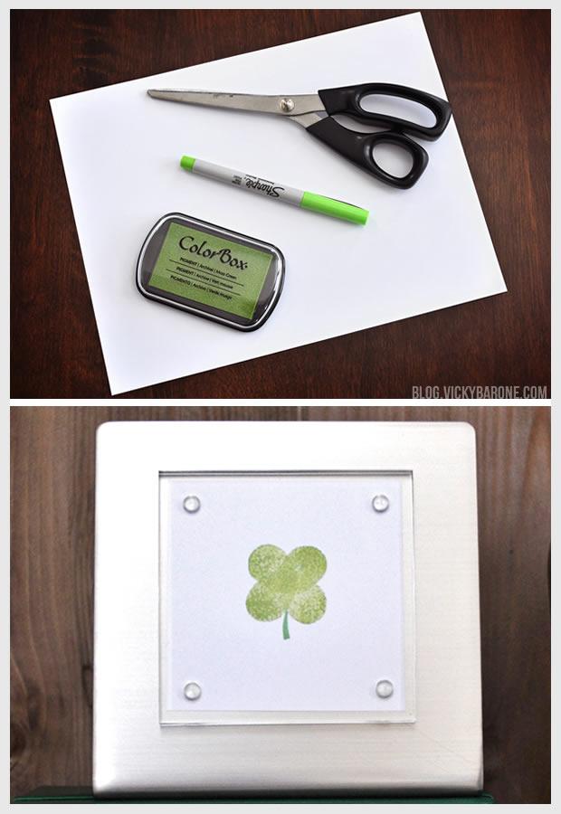 DIY Thumb Print Shamrock | Vicky Barone