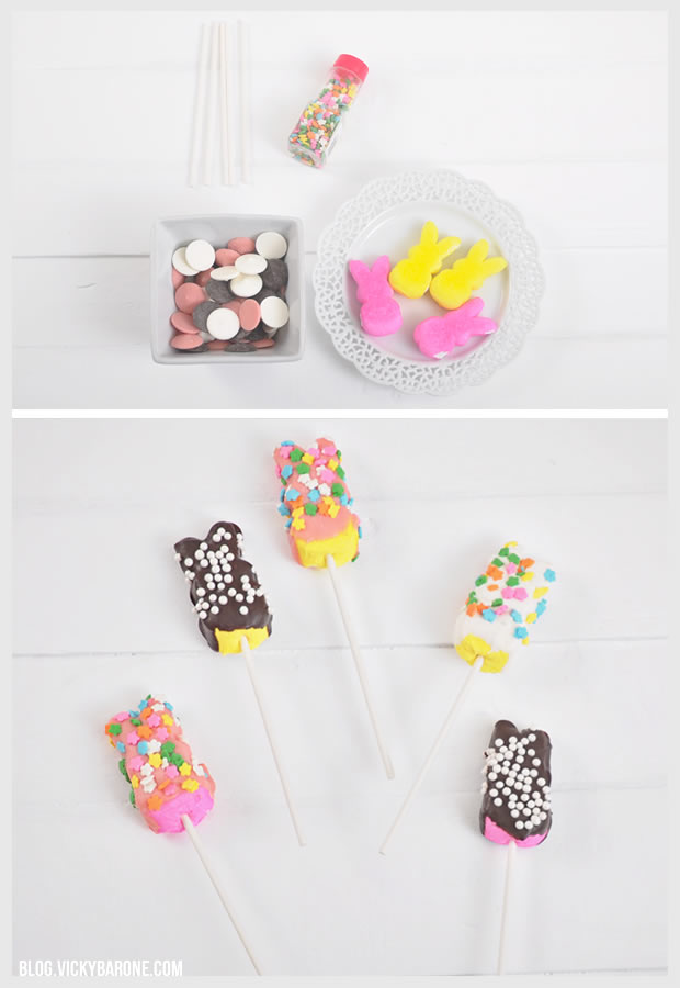Chocolate Covered Marshmallow Peeps | Vicky Barone