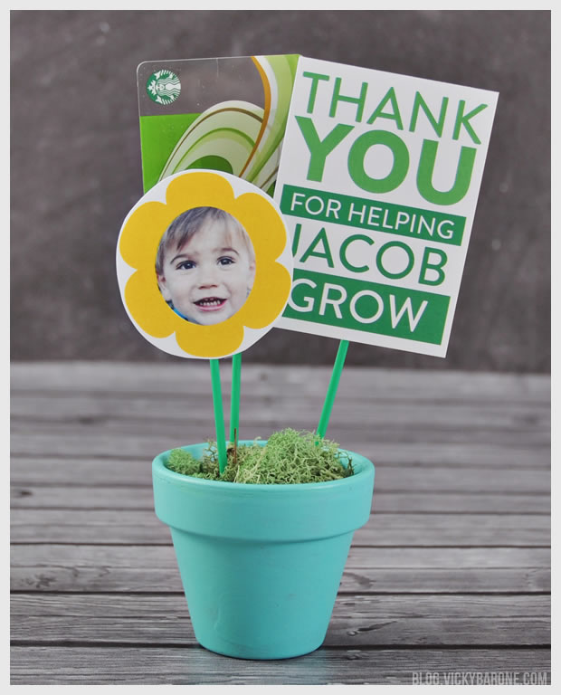 DIY Teacher Appreciation Gift Featuring Places for Faces by Vicky Barone