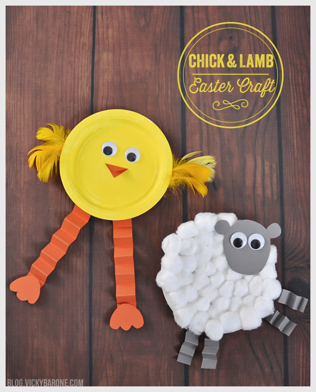 Chick & Lamb Easter Craft | Vicky Barone