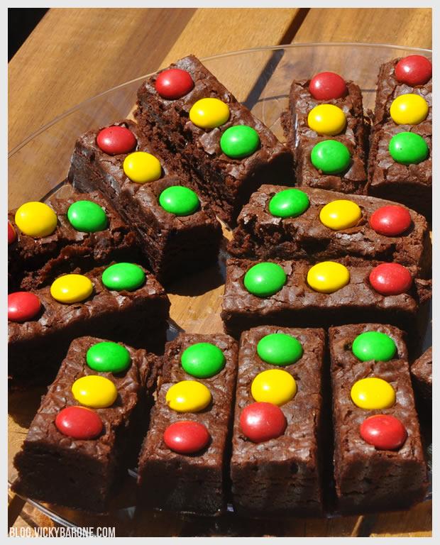Stoplight Brownies | Vicky Barone