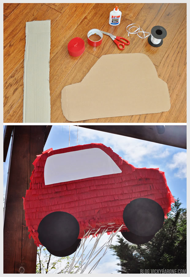 DIY Pull String Pinata | Car Party | Vicky Barone