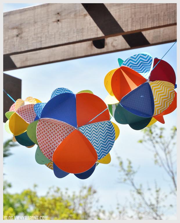 DIY Paper Globes | Vicky Barone