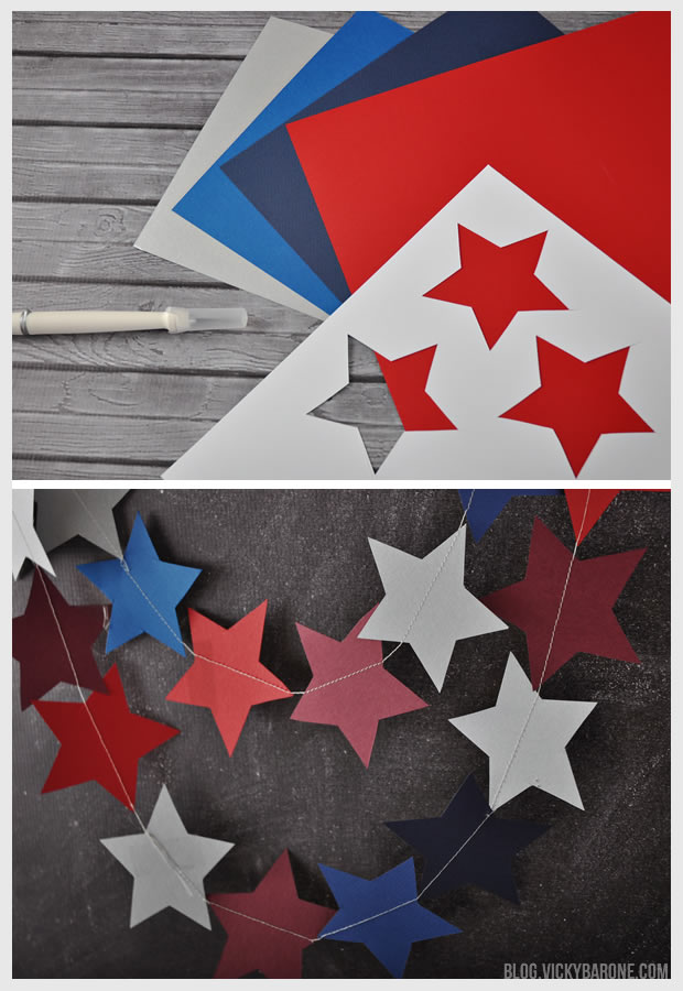 4th of July Star Garland | Vicky Barone