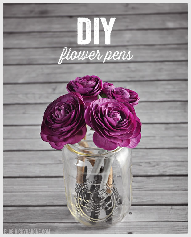 DIY Flower Pens | Vicky Barone