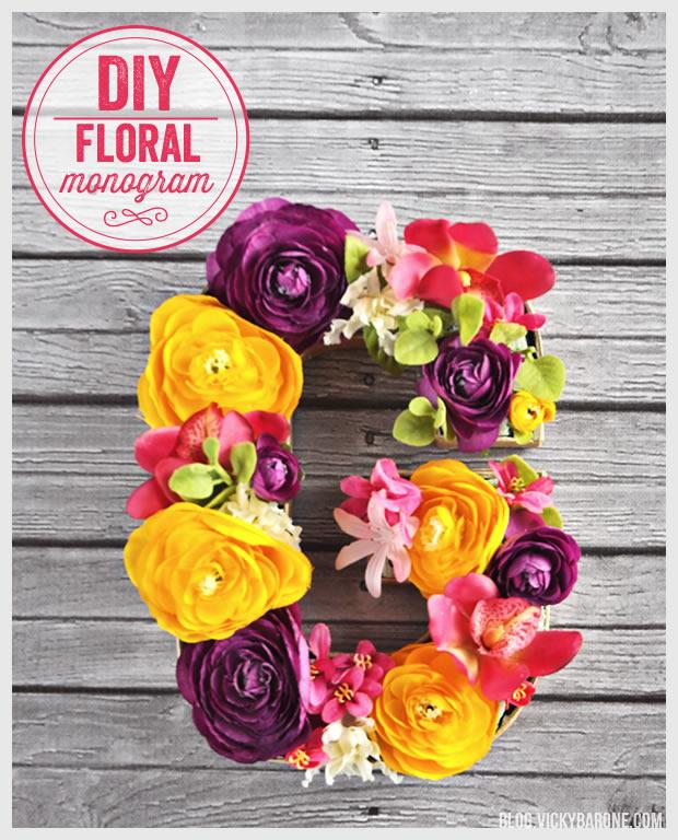 DIY Floral Monogram   Vicky Barone