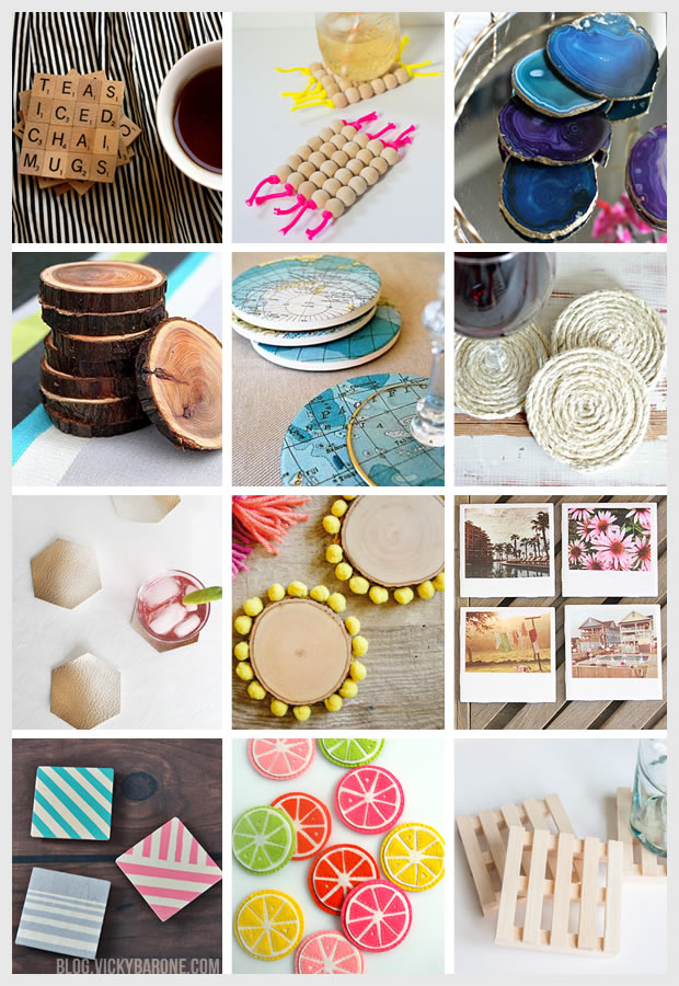 Things I Love: DIY Coasters | Vicky Barone