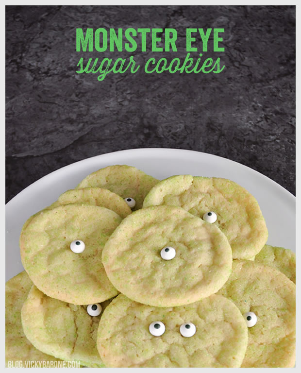 Monster Eye Sugar Cookies | Vicky Barone