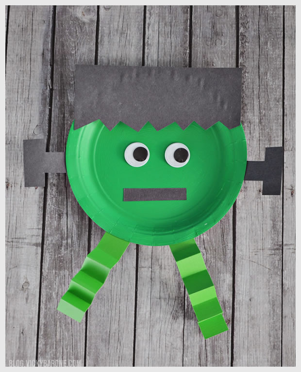 Paper Plate Halloween Frankenstein Craft | Vicky Barone  sc 1 st  Vicky Barone & Paper Plate Halloween Characters - Vicky Barone
