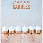 Gold-Dipped Candles