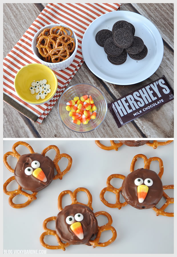 Chocolate Covered Oreo Turkeys | Vicky Barone