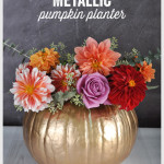 DIY Metallic Pumpkin Planter