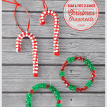 DIY Bead & Pipe Cleaner Christmas Ornaments