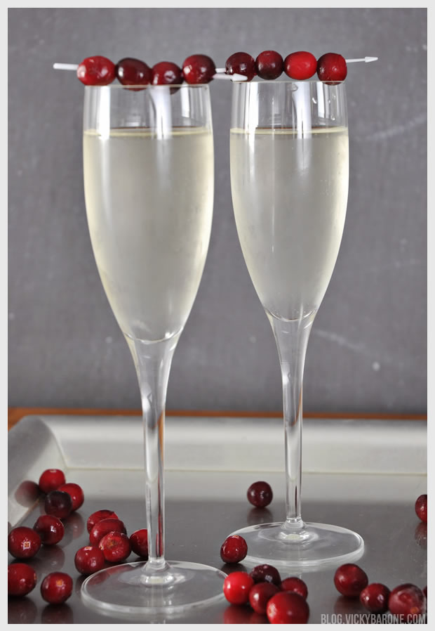 White Cranberry Mimosas | Vicky Barone