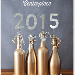 2015 Wine Bottle Centerpiece