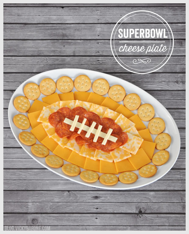 Superbowl Cheese Plate and Other Football Shaped Food | Vicky Barone