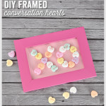DIY Framed Conversation Hearts