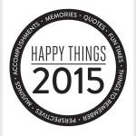Happy Things Memory Jar 2015