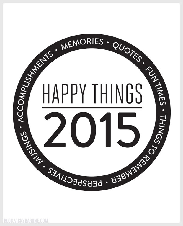 Happy Things Jar 2015 | Vicky Barone