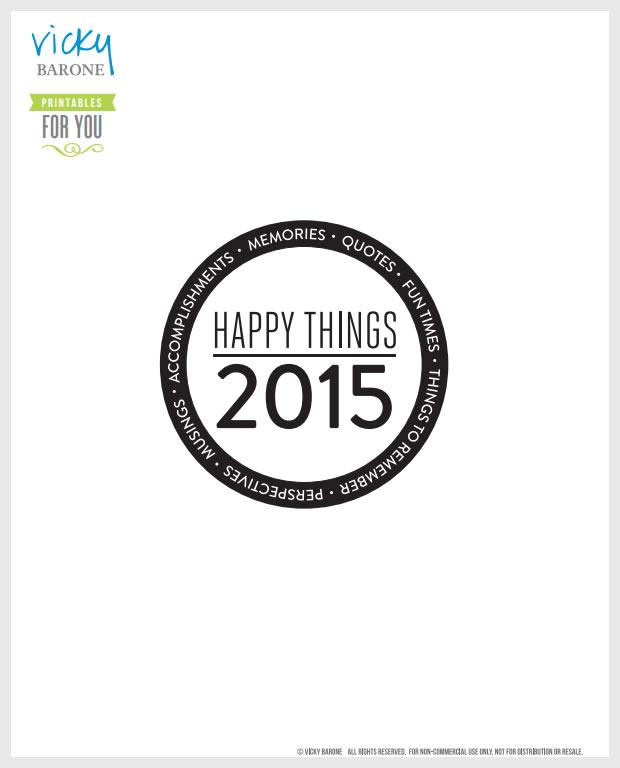 Happy Things Memory Jar Free Printable | Vicky Barone