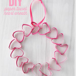 DIY Paper Towel Heart Wreath