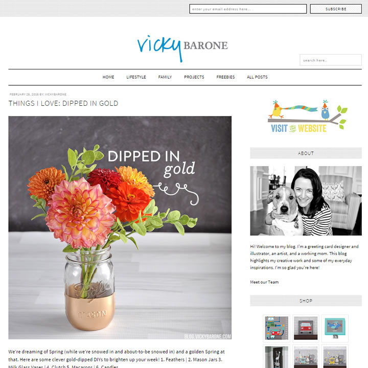 Vicky Barone | New Blog Layout